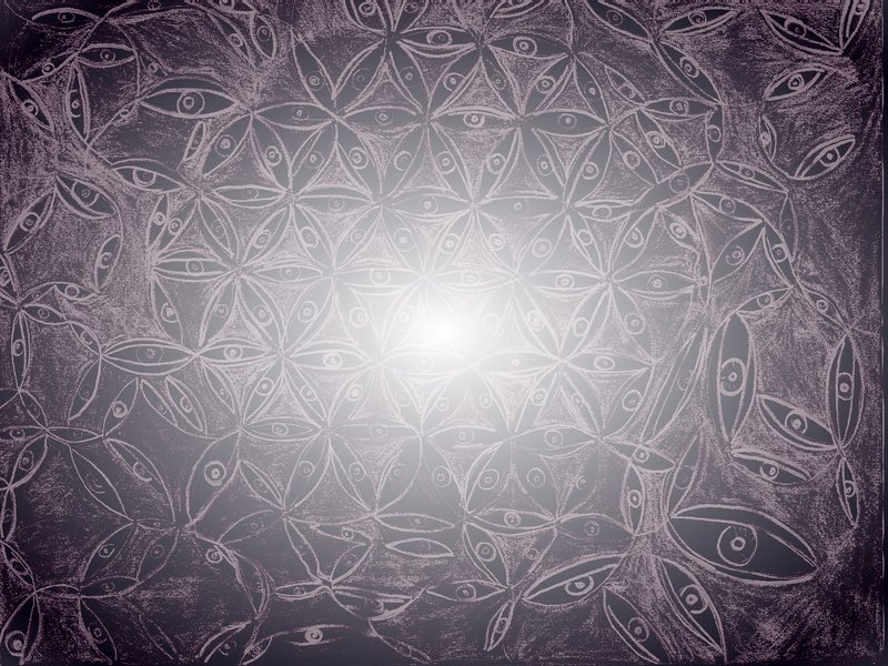flower of life painting by Devin Devine (not the porn star)